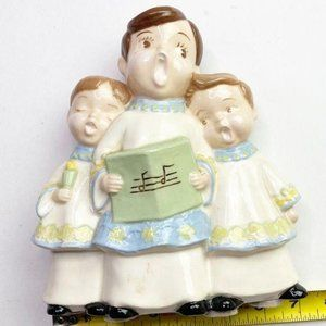 Vintage Christmas Ceramic Choir Boys Trio Carolers